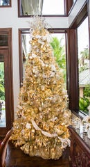 Beautiful Christmas décor like this lovely tree will be on view in six local homes part of the Woman's Club of Stuart's Holiday Home Tour on Dec. 8, 2019.
