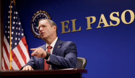 The new FBI El Paso Special Agent in Charge Luis Quesada talks to media Tuesday about his past in law enforcement and his goals for the El Paso sector.