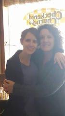 Anne Germain smiles alongside Kitty Gartmann at the Checkered Churn in downtown Merrill.