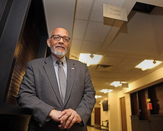 Ramapo Town Clerk Christian Sampson, a former East Ramapo School Board member, is retiring after more than 20 years, with the Town Board. Sampson was photographed at his office in Airmont Nov.18, 2019.