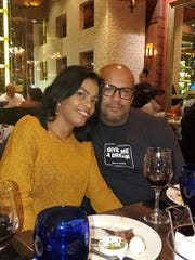 Gisselle Acevedo-Pena, left and Jonny Acevedo, the event coordinators of the Yonkers Wine and Food Fest