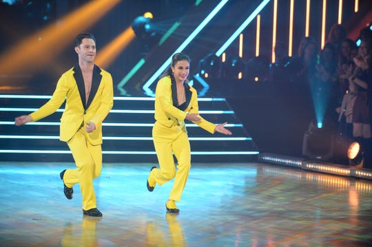 Sasha Farber and Ali Brooke dance Charleston.