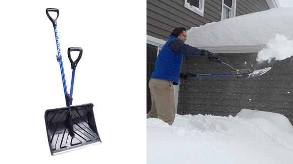 This genius, spring-assisted shovel may help reduce accidents.