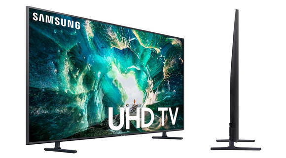 This Samsung TV has a thin and sleek design that easily fits almost any space.
