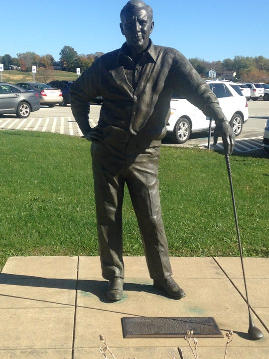 An Arnold Palmer statue stands outside the local airport, which is named after the golf icon, who was also a devoted pilot and local appointee to the airport authority.