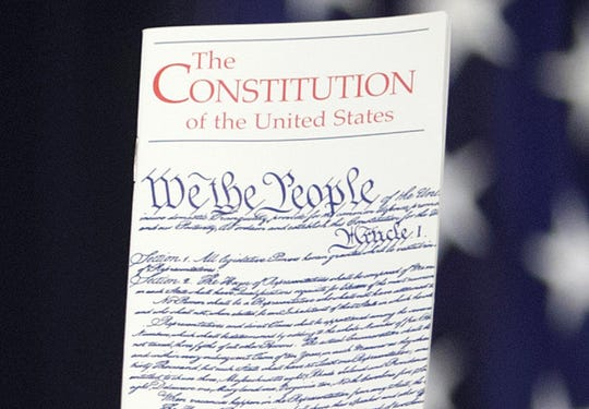 Copy of the U.S. Constitution.