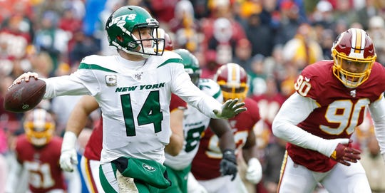 27. Jets (29): Time to petition for move to NFC East, against which Sam Darnold is 3-0 with 112.6 QB rating. (He's 1-6 with 60.5 QB rating vs. AFC East.)