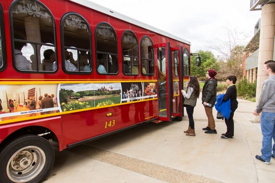 At Saint Vincent College near Latrobe, there's nothing Make-Believe about the ceremonial campus trolley.