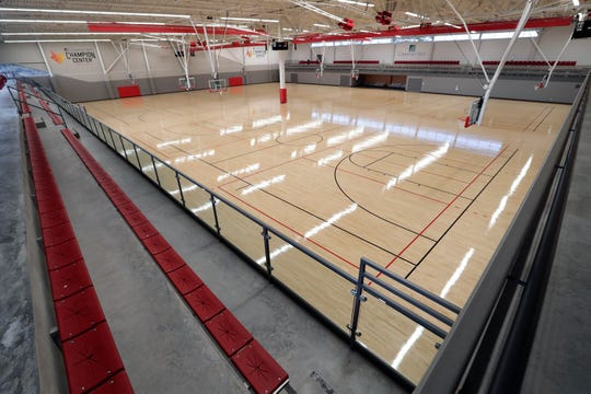 The Community First Champion Center in Grand Chute has a fieldhouse with four basketball courts or eight volleyball courts.