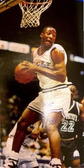 Adrian Griffin playing for Seton Hall