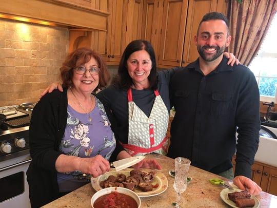 Carol Bakunas, left, with her sister-in-law, Leslie Messina, and Leslie's son, Jarrett.
