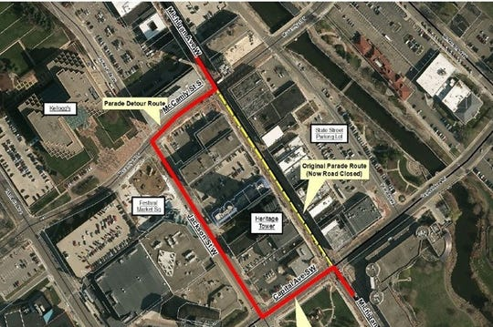 The BC Christmas Parade detour will avoid the Michigan Avenue construction for the Milton.