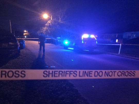 Brevard County Sheriff's investigators were at the site of a possible shooting in near Sharpes late Tuesday that left one person seriously injured.