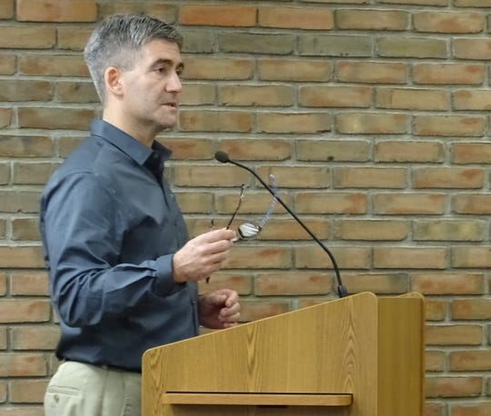 Gary Frankhouse of the Crawford Partnership speaks during a 2019 Bucyrus City Council meeting.
