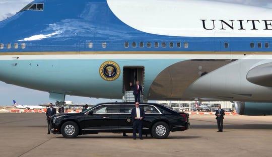 President Donald Trump visits Austin on Nov. 20, 2019.