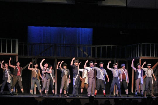 The Sketch Club Players perform 'Newsies' at Rowan College at South Jersey.