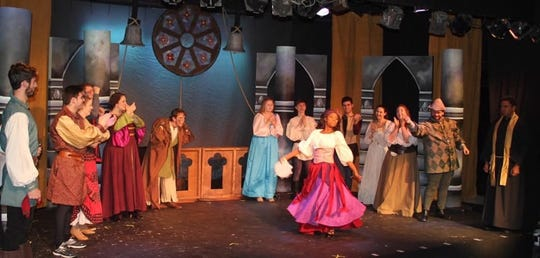 The Sketch Club Players perform 'The Hunchback of Notre Dame.' The company has left its longtime theater, but will continue performing pop-up shows.