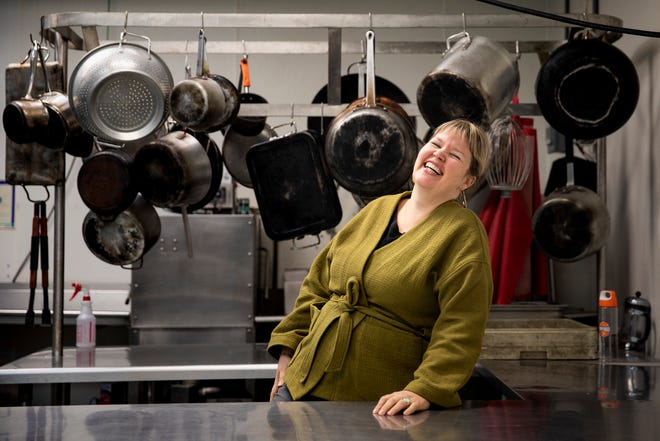 Rachel DesRochers, owner of Grateful Grahams, poses for a portrait on Monday, November 18, 2019 in the Incubator Kitchen Collective she started in 2013 in Newport, Kentucky.