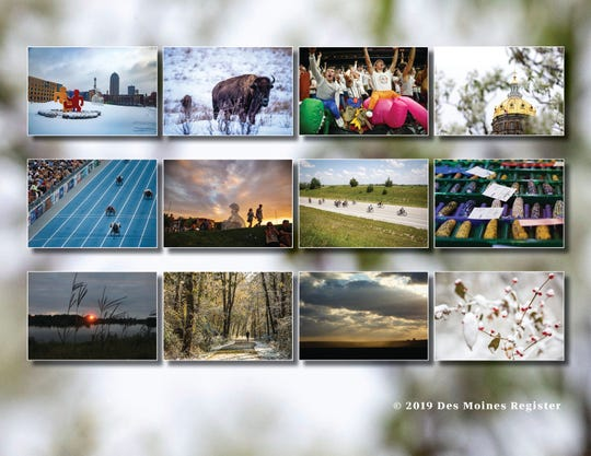 All of the photos featured in the 2020 Des Moines Register photo calendar.  The calendar is available for $18 at ShopDMRegister.com.