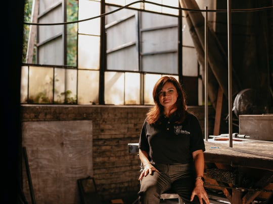 Nieves Longordo, president of Diseños Ornamental Iron. Diseños Ornamental Iron was founded more than 40 years ago by Tony Martinez, Nieves' stepfather. Today the company employs 14 people.