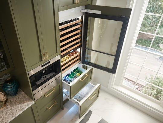 More homeowners are raising a glass to toast their personal wine refrigerators. This Sub-Zero 30-inch Designer Wine Storage with Refrigerator and Freezer Drawers can be paneled to match existing kitchen cabinetry and easily creates an adult beverage station ($8,945).