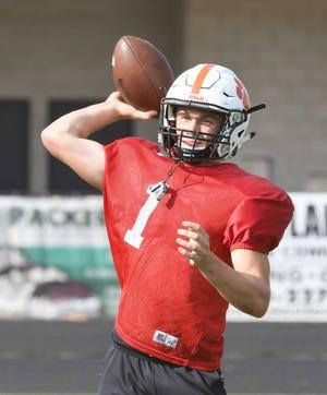 Brighton quarterback Colby Newburg
