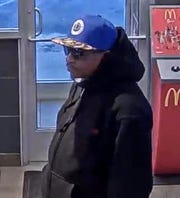 Police said a man shown on camera is wanted in connection to a robbery at the restaurant.