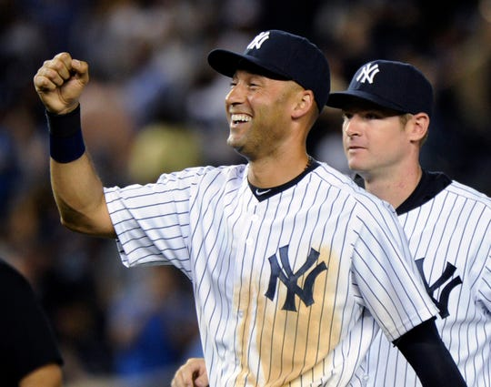 Kalamazoo native and former Yankees shortstop Derek Jeter had 3,465 hits, batted .310, and eight times was among the top 10 in American League MVP votes.