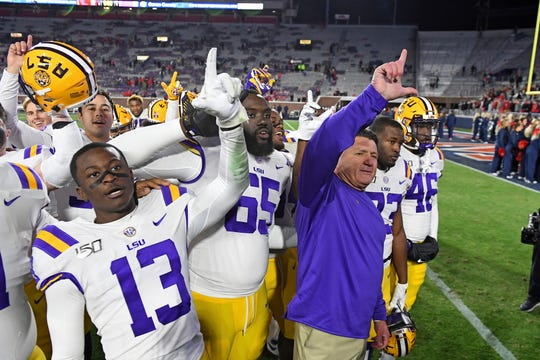 LSU held firm at No. 1 in the College Football Playoff rankings for the second straight week.