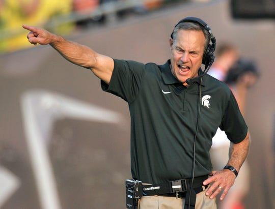 Michigan State football coach Mark Dantonio