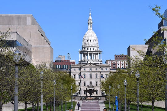 FILE - View of the West side of the Capitol in Lansing. (2017)