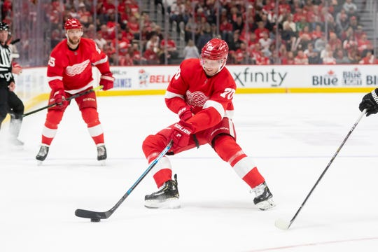 In 14 games with the Red Wings, forward Christoffer Ehn has zero points and is a minus-5.