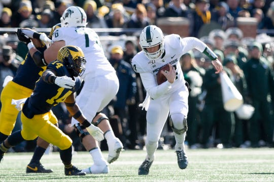 Expect Brian Lewerke to maintain the reins at quarterback for Michigan State for the rest of the season.
