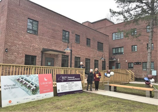 Libertad Elmira, an affordable housing complex occupying the former Jones Court Apartments, held a ribbon-cutting Wednesday to officially open.