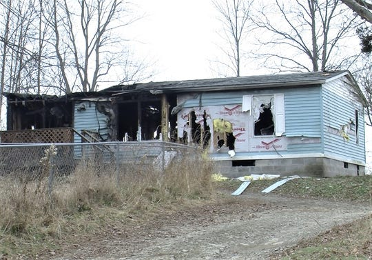 One person died when a blaze broke out Sunday in this house on Crane Road in the Town of Barton.