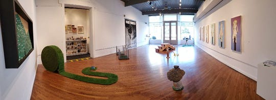 The New Harmony Gallery of Contemporary Art's Land Report East 6 closing reception is 4-6 p.m. Saturday.