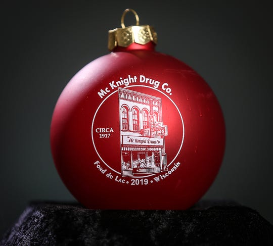 McKnight's drug store is pictured on this year's Soroptimist Ornament.