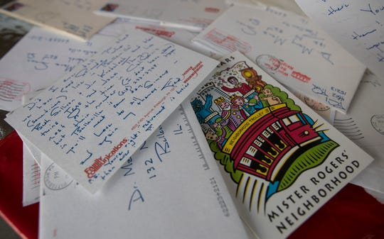 Fort Myers resident Mary Manz Simon was a friend to the late Mr. Rogers, and she served as a consultant on the new Tom Hanks movie. Part of her memorabilia includes an assortment of handwritten letters from Mr. Rogers.