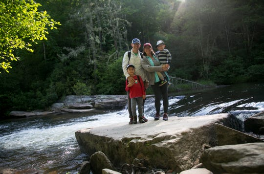 Amanda Inscore and her family, Scott, Bryson and Parker on their vacation to the North Carolina mountains in June 2019.