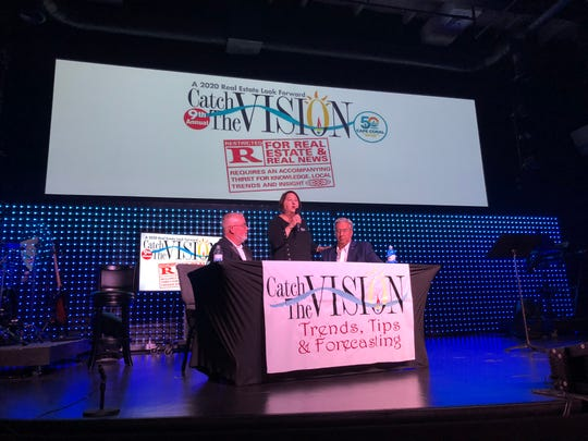 Catch the Vision highlights real estate trends in Cape Coral. Gloria Tate organized the event, while Billy Johnson and Joe Mazurkiewicz moderated.