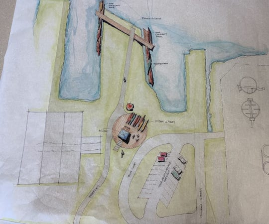 The design charrette for River Landing in Kewaunee, a silent sports site on the Kewaunee River proposed under the city's Harbor Master Plan.
