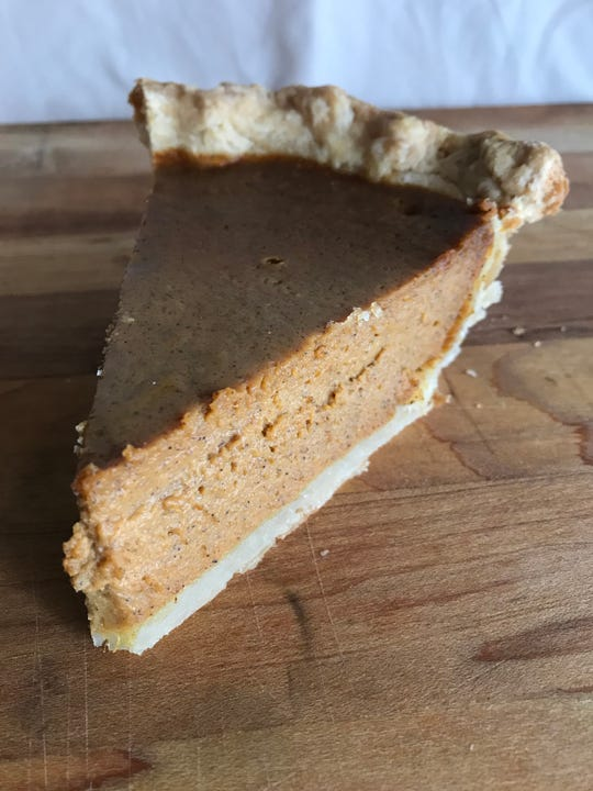 Pumpkin pie made with Great Value pumpkin puree.