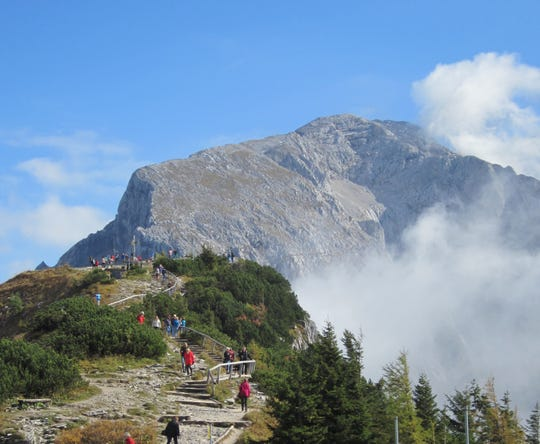 The trail leading to the Eagle's Next, Hitler's alpine retreat.