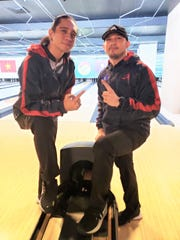 JD Castro and Aaron Elliott from Team Tamuning took the gold medal in the doubles event of the Asian Intercity Bowling Championships held Nov. 12-20 in Ho Chi Minh City, Vietnam. Castro and Elliott qualified in first place as the top seed, then defeated David Tsang and Leo Tse from Hong Kong in the finals.