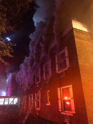 Once a hospital, now an extended stay hotel, the Simple Rewards Inn at 601 Washington St. burned Wednesday morning as crews battled for hours to extinguish the flames.