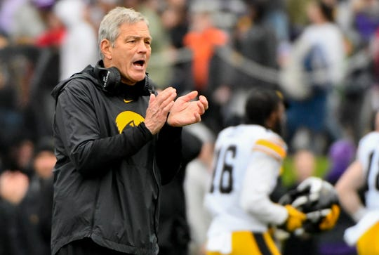 Kirk Ferentz is tied with Joe Paterno at No. 5 all-time in the Big Ten with 95 conference wins. With his 96th Big Ten win, he'll match Hayden Fry at No. 4.