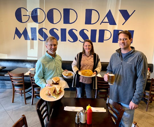 Owners of the recently opened E.A.T.S. Diner in Ridgeland are from left, Eric Bach, Ashley Bach and Stephen Wade. Not pictured are Steve and Susan Wade, who are also business partners.
