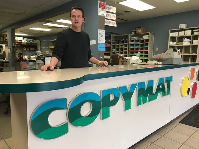 Rick Abrahamson, co-owner of Copymat, talks about the businesses plans to leave Chauncey Hill Mall for a store at 20 N. Salisbury St., a block away. The store was among the first at the strip mall a few blocks from Purdue when it opened in 1980.