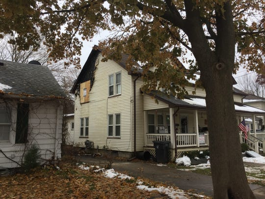A Tuesday blaze at a duplex in the 200 block of Madison Street in Howell sent one man to the hospital with burns. Fire damage is shown Wednesday, Nov. 20, 2019.