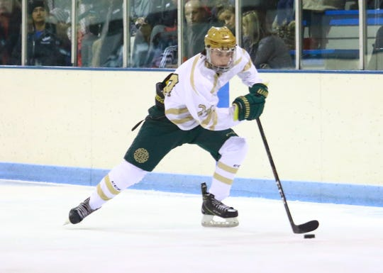 Brent Wolf had two goals and one assist for Howell in a 4-3 victory over Novi on Tuesday, Nov. 19, 2019.